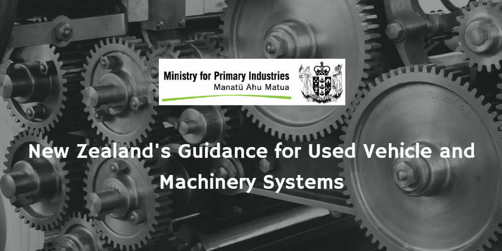 New Zealand's Used Vehicle and Machinery Systems